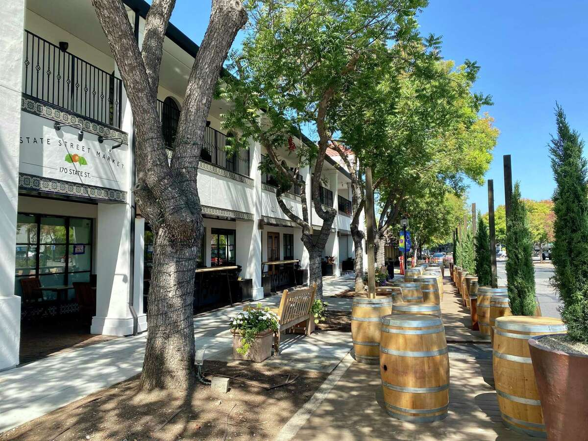 State Street Market is now open in downtown Los Altos for outdoor dining and takeout.