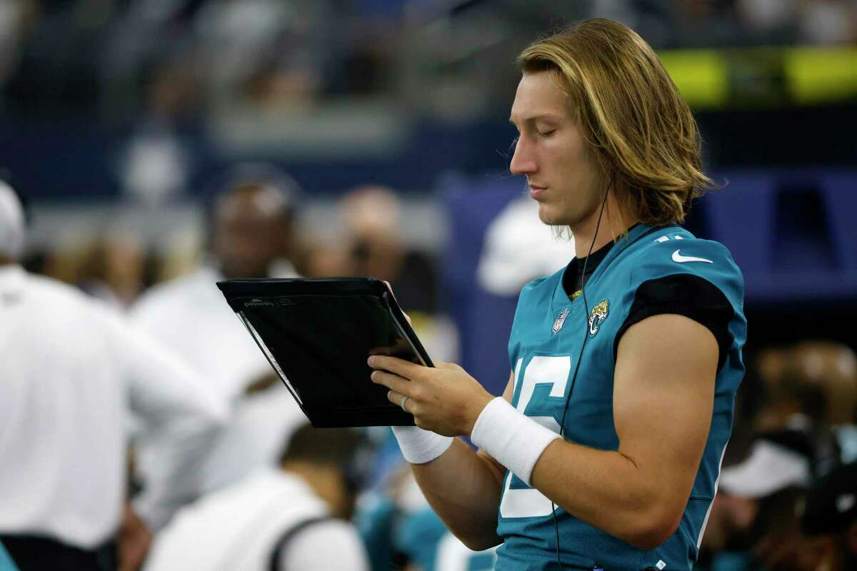 Jacksonville rookie Trevor Lawrence will change the clipboard for a helmet and start the opener against the Texans.