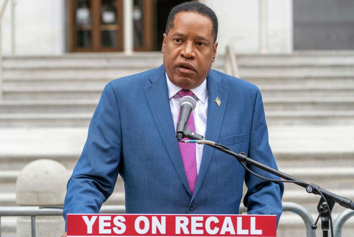 Larry Elder, the conservative radio host, is leading the pack of candidates looking to replace Gavin Newsom.
