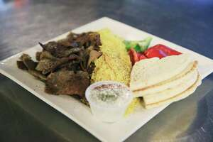 The gyro plate from Tripoli's Mediterranean Grill.