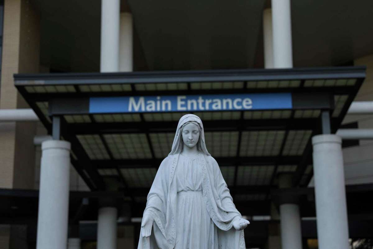 A statue of Mary greets visitors at Ascension Providence Hospital in Waco. In January 2020, Stetson Hoskins was admitted to Ascension Providence's Emergency Room on an emergency detention order after he told police officers he was going to kill himself.