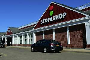 Stop and Shop supermarket in the Goodwives Shopping Center is temporarily closed due to flooding Tuesday, September 7, 2021, in Darien, Conn.