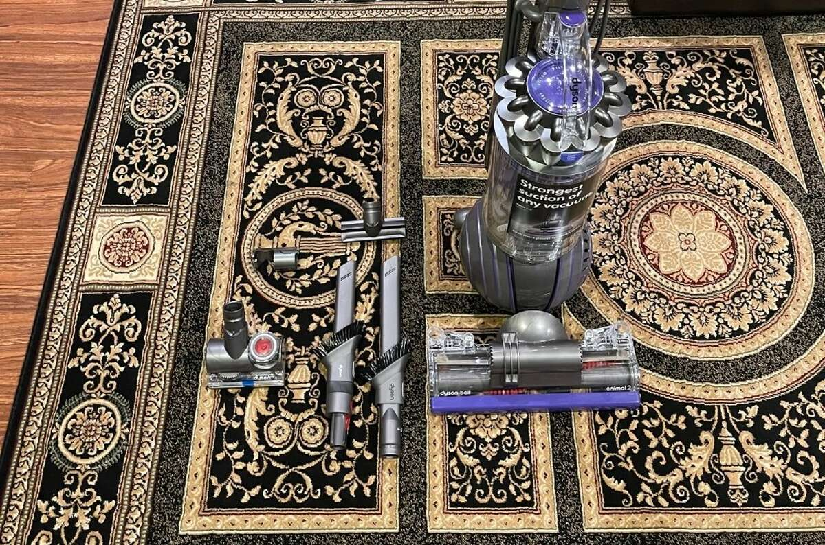 The Dyson Ball 2 Animal with its five attachment tools.