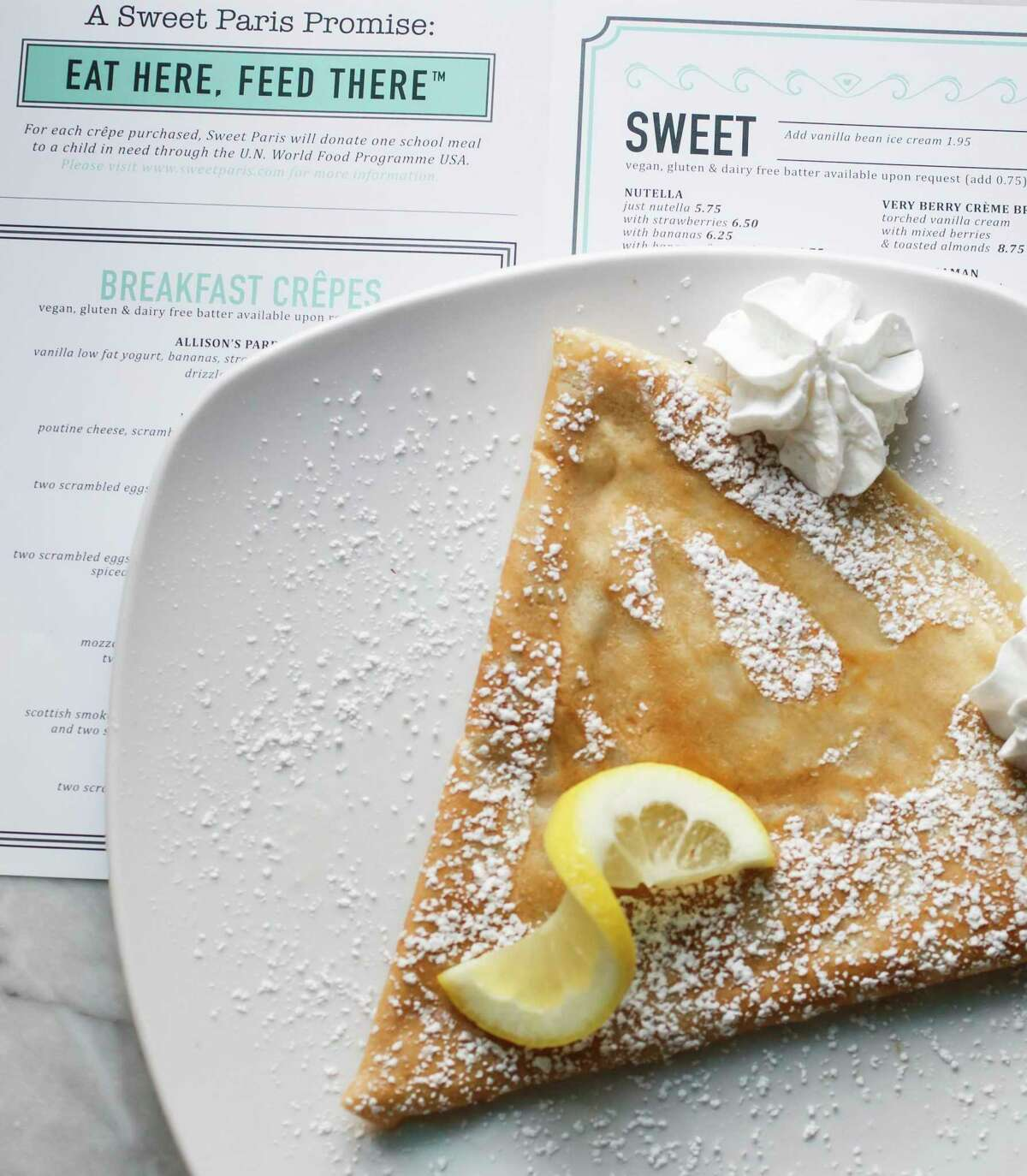 Swet Paris specializes in sweet and savory crêpes.