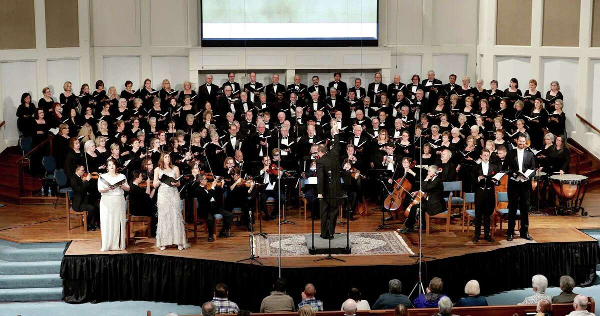 The Kingwood Chorale, St. Anne Church Choir, and RESOUND! will join together to commemorate the 9/11 tragedy two decades later with two performances of the Mozart Requiem. The photo is from an earlier collaboration of the same choirs at First Presbyterian Church in Kingwood.