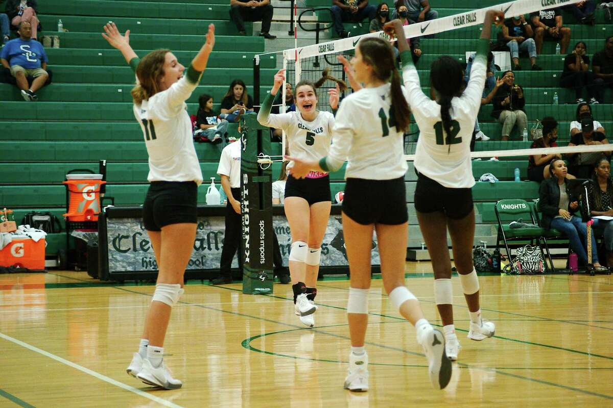 Clear Falls (shown here) along with Clear Creek and Clear Springs picked up District 24-6A volleyball wins Thursday night.