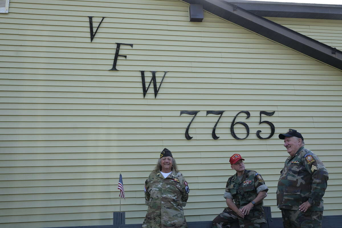 Red Hook's VFW post 7765 has gone from more than 500 members in the early '90s to 177 today. The post's former commander, Bill Moore (left) and quartermaster Richard Wambach(right) believe younger veterans have either moved away or are too busy with jobs and families to join the VFW. Timothy G. Williams (center) is a member who served in the Marines and Marine Corps Reserve.