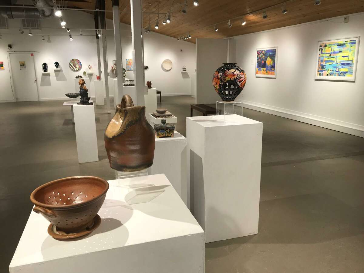 Shown is a past exhibit at the Guilford Art Center at 411 Church St.