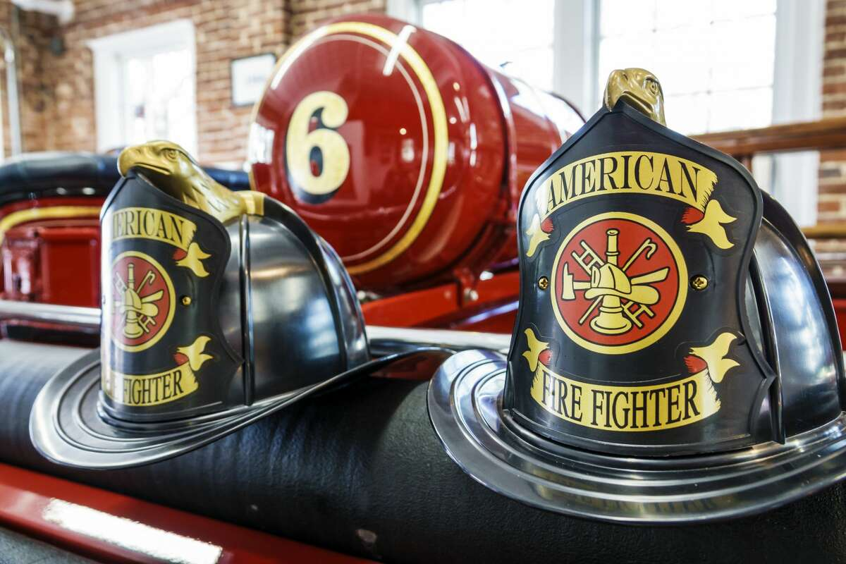 Orlando, Loch Haven Park, Orlando Fire Museum, Helmet Display. (Photo by: Jeffrey Greenberg/Universal Images Group via Getty Images)
