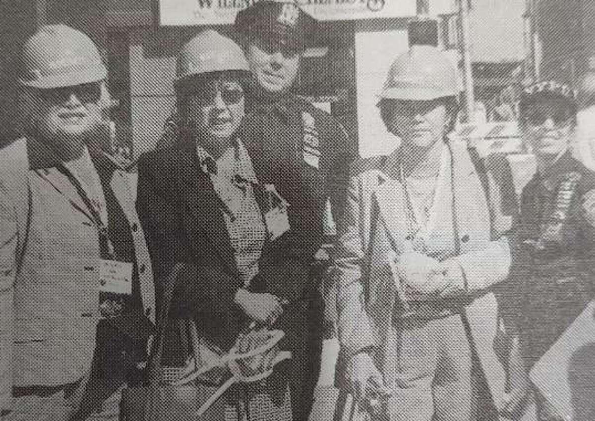 Pictured are El Paso judges Marisela Saldana, Sue Karita and Aida Flores-Salinas with Officer Kenny Lent and Detective Victoria d'Angelo.