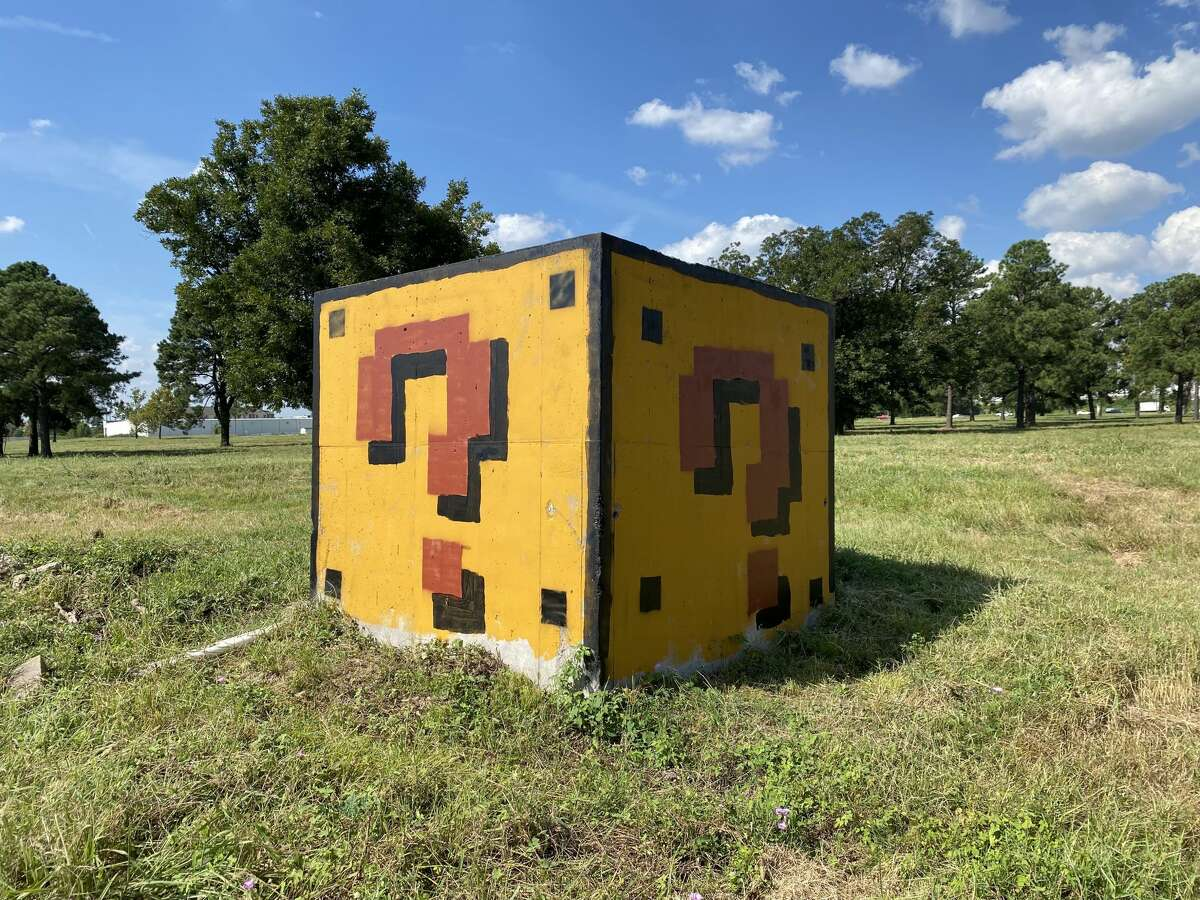 An abandoned drain section in northwest Houston got a power up thanks to artist Neato Rodriguez.