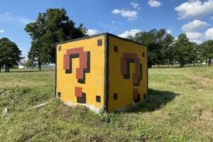 An abandoned drain section in northwest Houston got a power up thanks to artist  Neato Rodriguez .