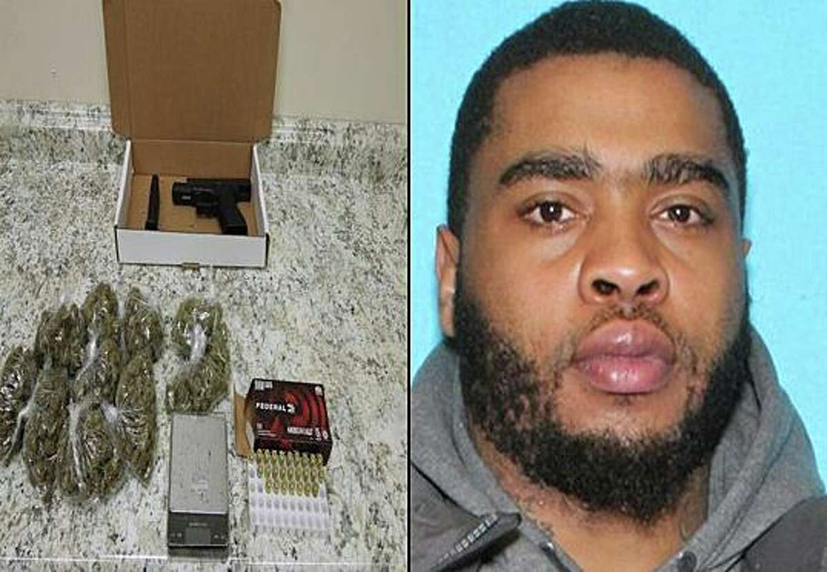 Police are looking to arrest Jeshawn Rogers, a Bridgeport, Conn., resident that investigators say is responsible for an August shooting in Stratford. The items on the left were seized from Rogers' Palisade Avenue apartment in the city during a search and seizure warrant service on Sept. 7, 2021.