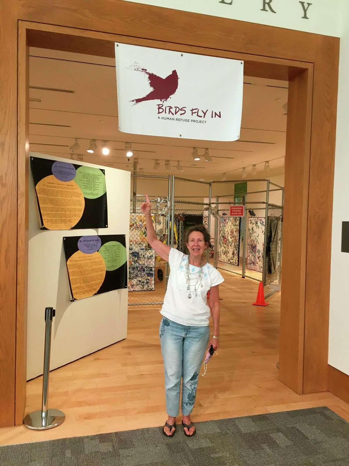 Ellie Harold's collaborative art project Birds Fly In: A Human Refuge, is on display at the Dennos Museum Center in Traverse City. (Courtesy Photo)