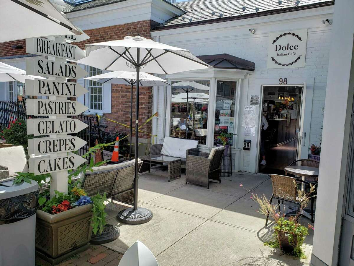 Food offerings at the Dolce Italian Cafe on Elm Street in New Canaan.