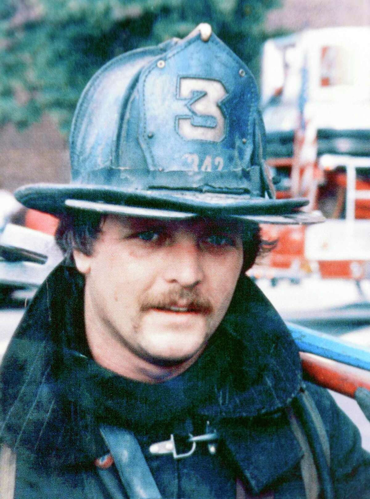 A dated photograph of New York City firefighter Christopher Blackwell, who died in the World Trade Center attacks on Sept. 11, 2001.