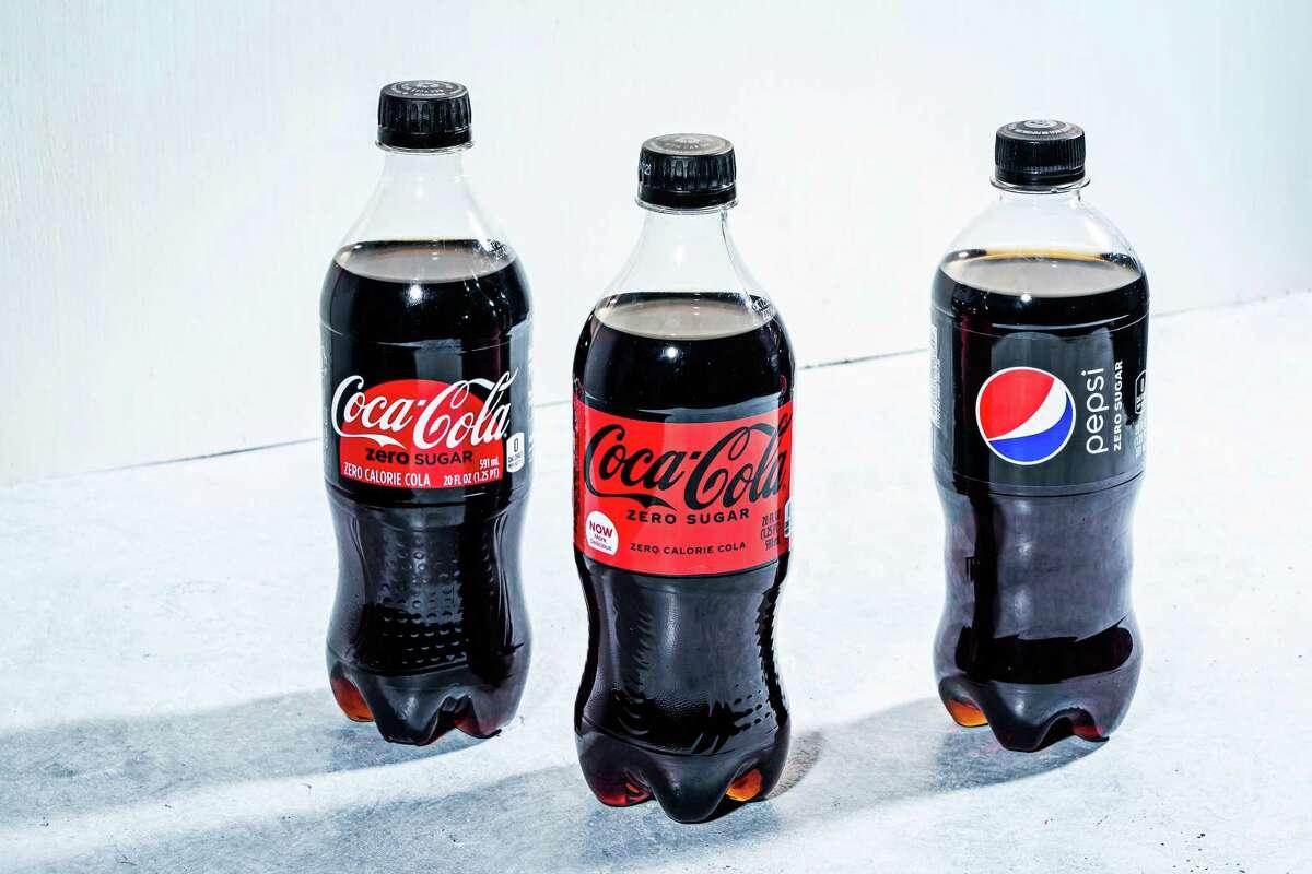 Coke Zero, New Coke Zero and Pepsi Max.