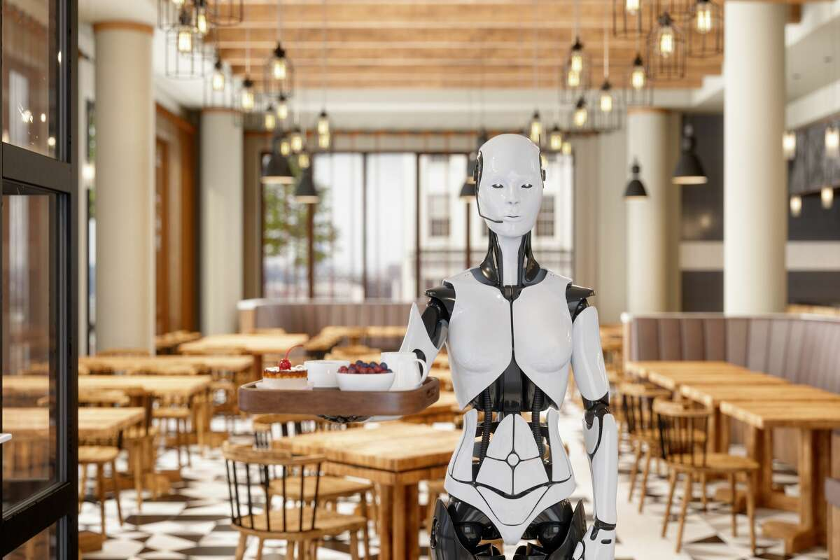"""""""They're not this advanced, per se - at least not yet - but a Dallas restaurant has embraced simple, tablet-based robots to help with staffing shortages during the COVID-19 pandemic."""""""