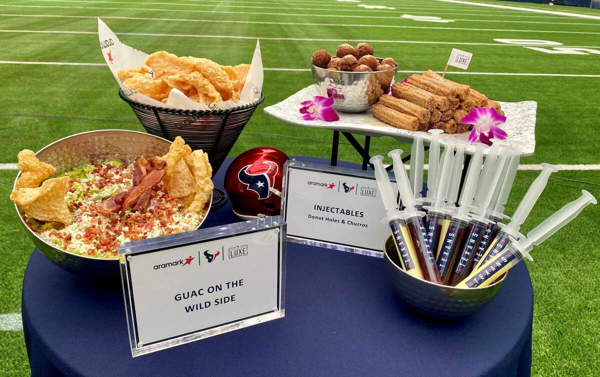 A few of the concession items at NRG Stadium this season.