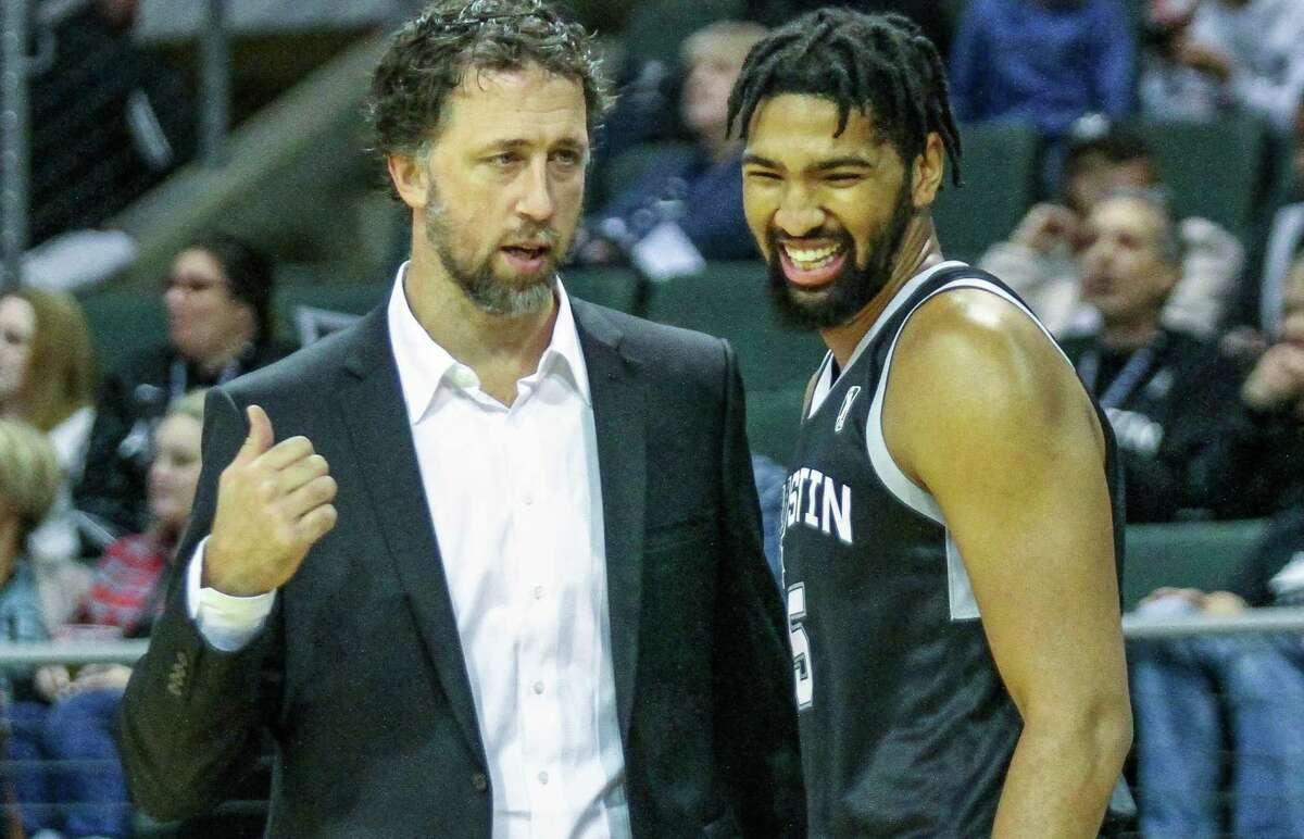 Matt Nielsen, left, coached the Austin Spurs of the G League last season.
