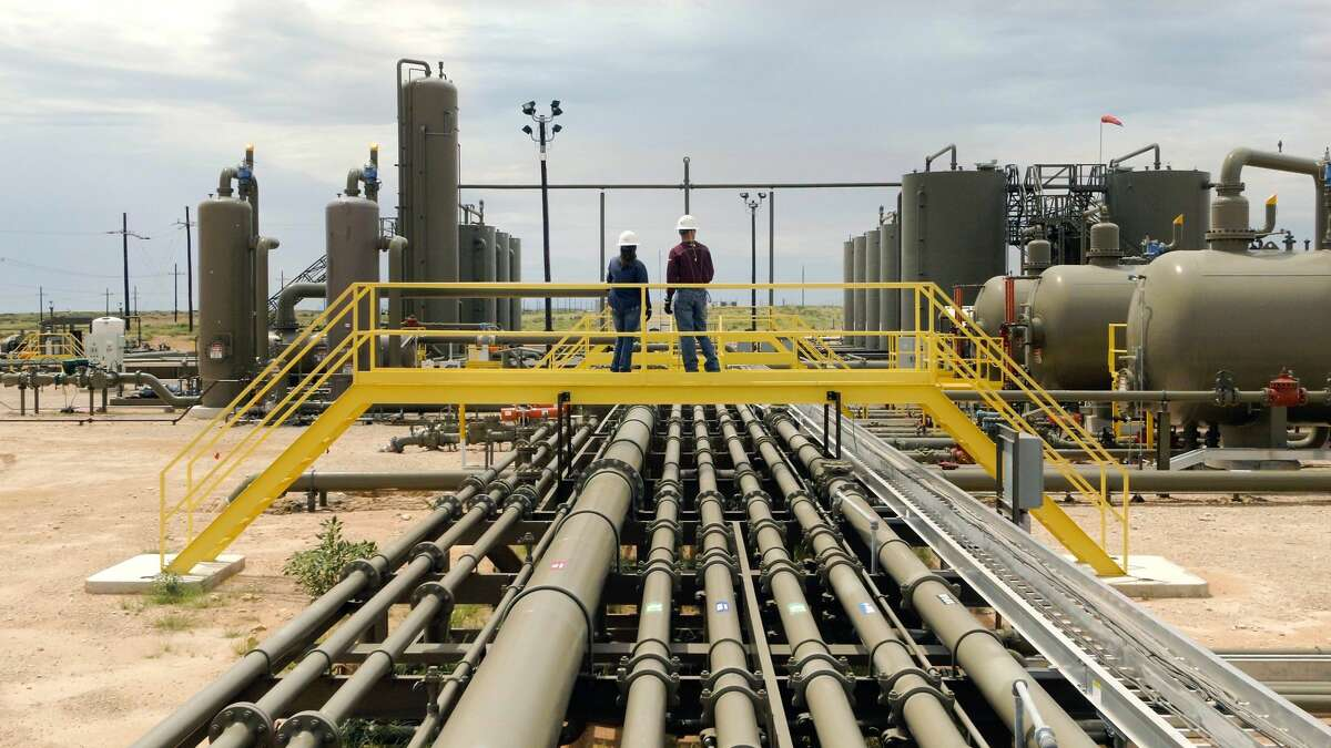ExxonMobil employees oversee its Permian Basin Poker Lake facility where it plans to begin certifying natural gas using rigorous independent criteria. Laredo Petroleum and Chisholm Energy are joining Exxon in seeking to have their production certified as responsibly sourced.