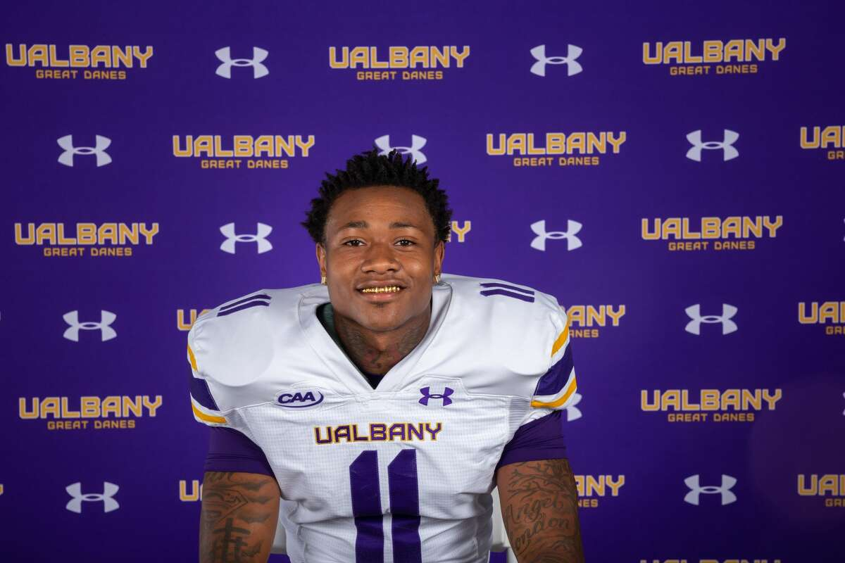 UAlbany freshman wide receiver Roy Alexander had four catches for 113 yards and a disputed touchdown in his college debut against North Dakota State.