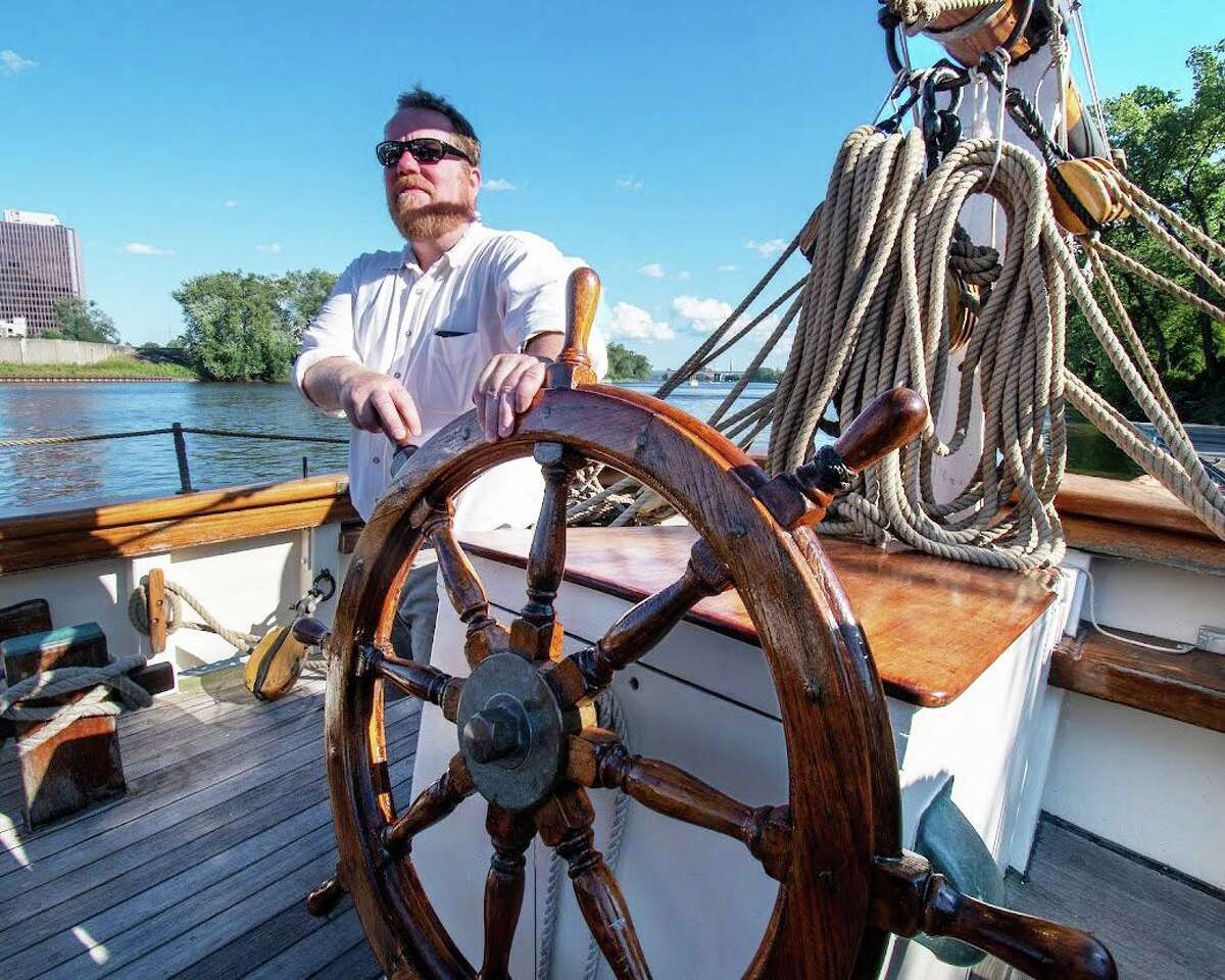 The Amistad, now docked in Hartford throughout September, will be visiting Middletown's Harbor Park in Oct. 2. The schooner arrived in the capitol city Tuesday evening.