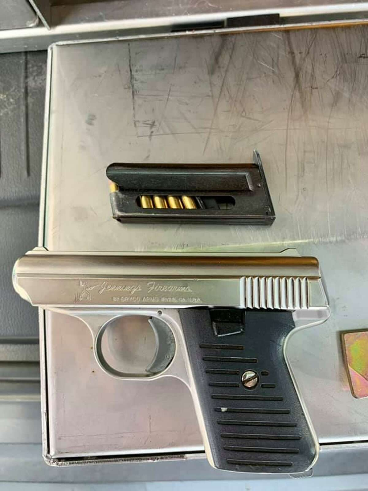 The Texas Department of Public Safety said they seized this gun during a traffic stop where two suspected human smugglers were arrested.