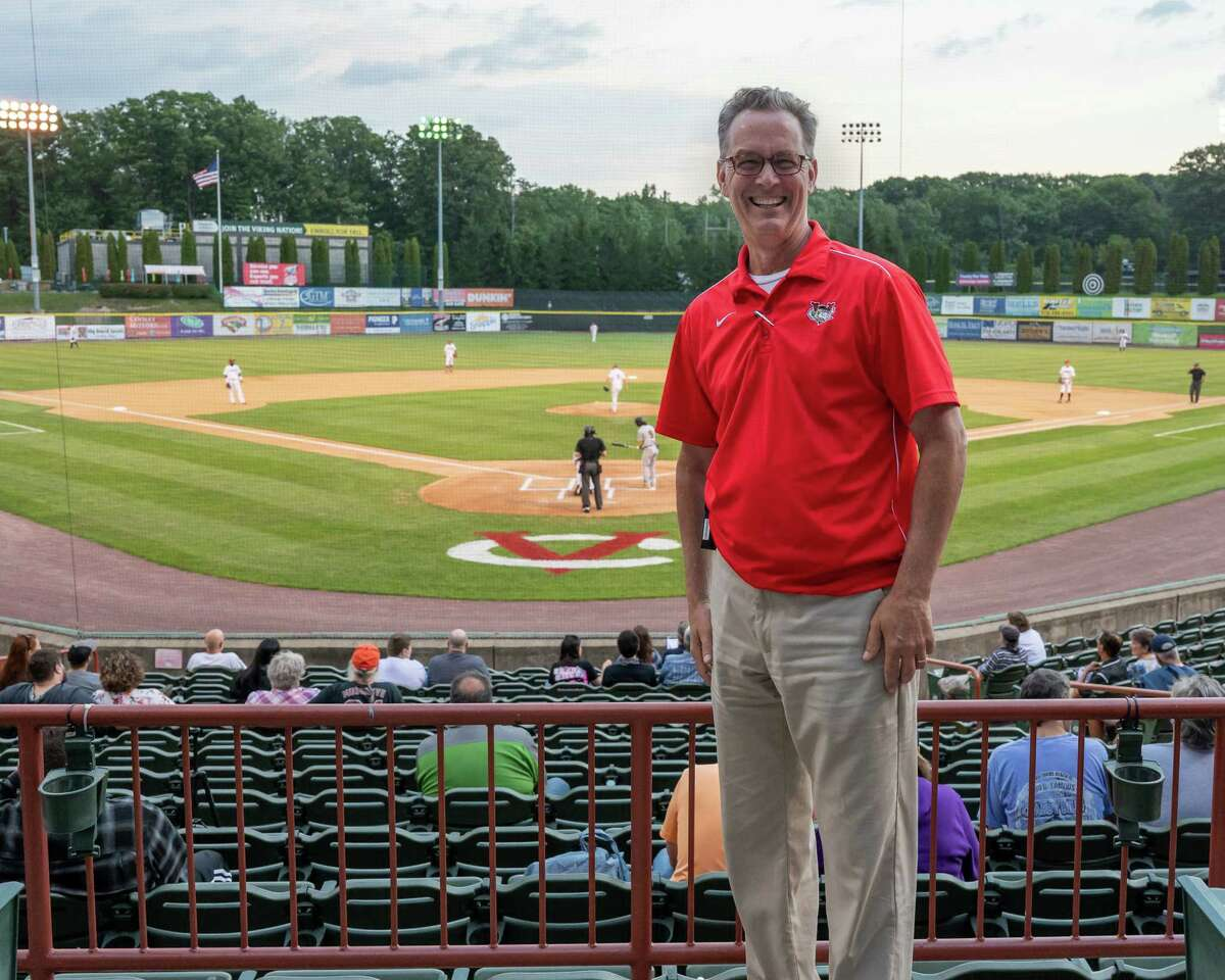 Tri-City ValleyCats President Rick Murphy during a game against the Sussex County Miners at Joseph L. Bruno Stadium on Wednesday, Sept. 8, 2021.