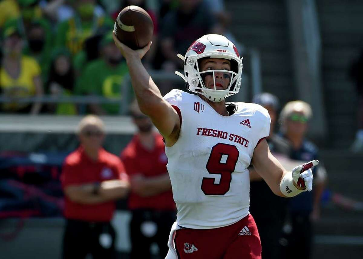 Jake Haener, a Monte Vista-Danville alum, has thrown for 629 yards and four touchdowns in two games for Fresno State.
