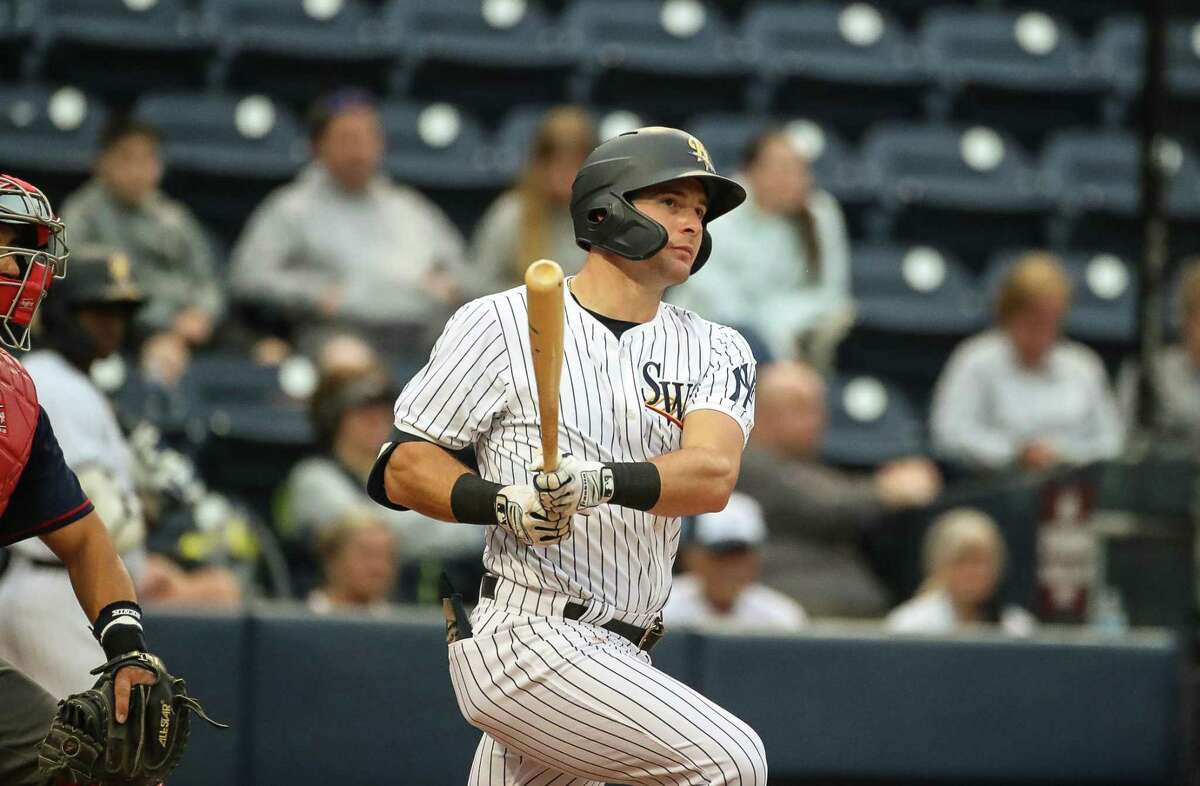 Monroe's Thomas Milone, playing at Hartford's Dunkin' Donuts Park this week, is hitting nearly .300 between Double-A Somerset and Triple-A Scranton this season.