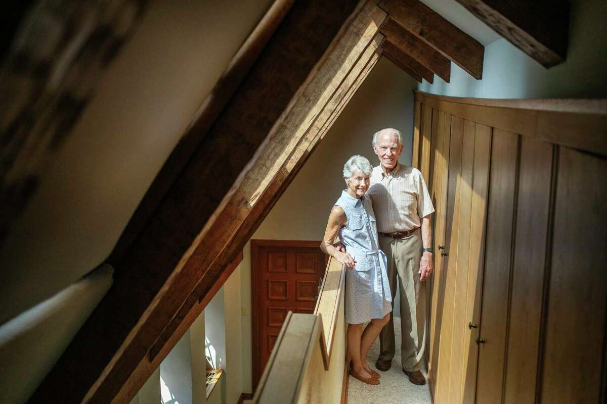 """Janet and Irv Snyder are pictured in their home in Midland.Irv Snyder's first thought on 9/11 was: """"How could this happen?"""" He said, as the day wore on, """"The courage and bravery of the police and firefighters was beyond belief."""" His wife, Janet, thought of her daughter, Julie, who was working in Manhattan at the time. """"God bless those who write about it to remind us of what 9/11 meant,"""" Janet said."""