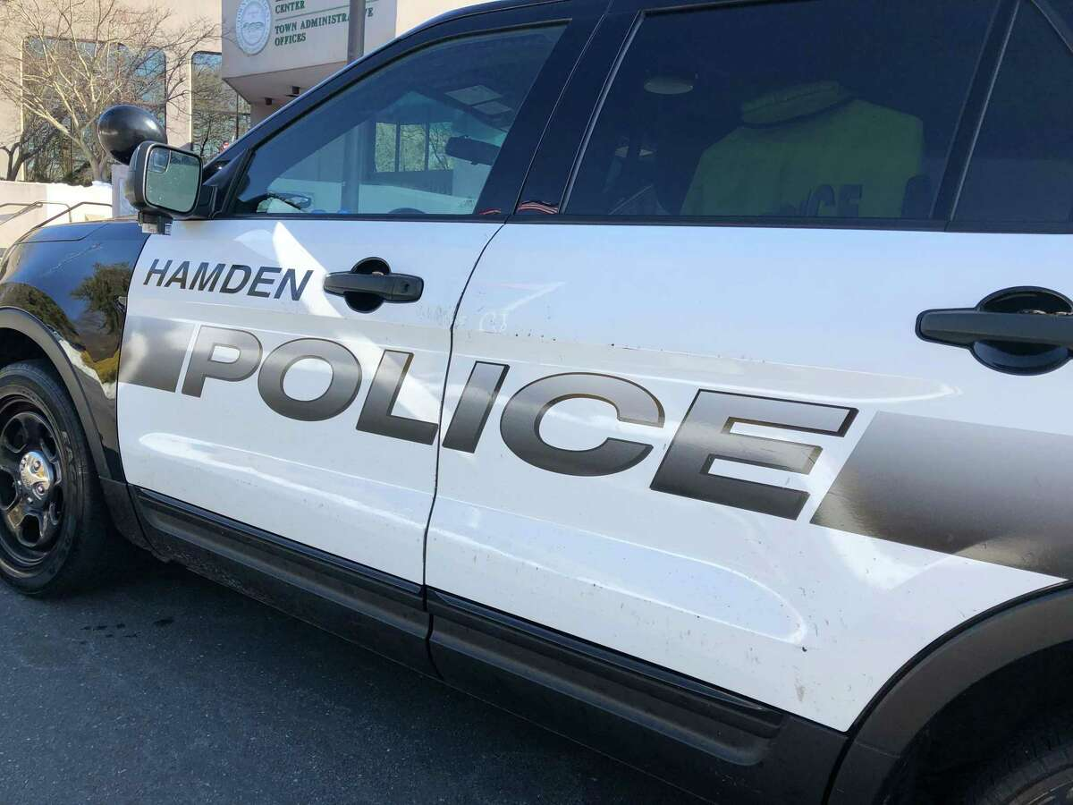 A crash that damaged a utility pole has closed Dixwell Avenue to traffic at Weybosset Street in Hamden, Conn., on Thursday, Sept. 9, 2021.