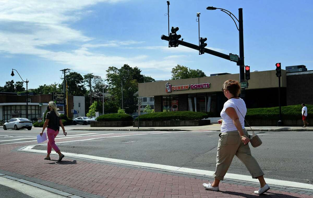 The intersection at West Ave. and Chapel Street Wednesday, September 8, 2021, in Norwalk, Conn. The city is replacing and changing some traffic signal controllers on West and Belden Avenues to make them more accessible and pedestrian-friendly.