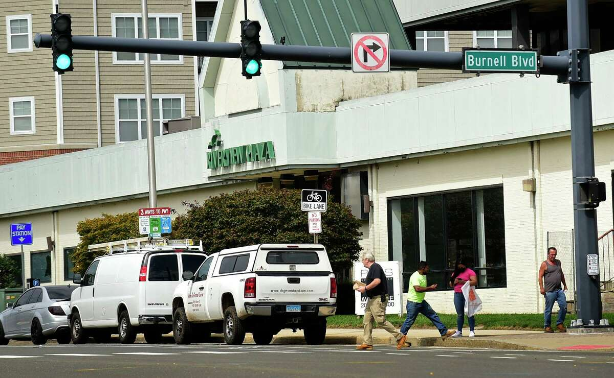 The intersection at West Ave. and Burnell Blvd. Wednesday, September 8, 2021, in Norwalk, Conn. The city is replacing and changing some traffic signal controllers on West and Belden Avenues to make them more accessible and pedestrian-friendly.