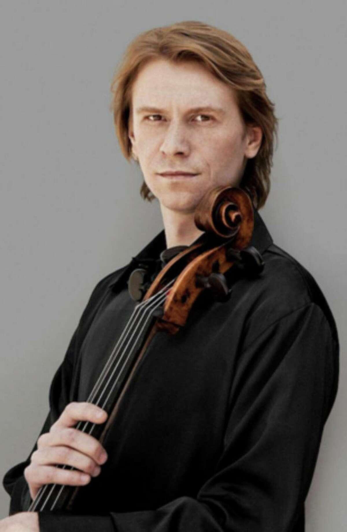 Cellist Sergey Antonov, plans to perform in Washington.
