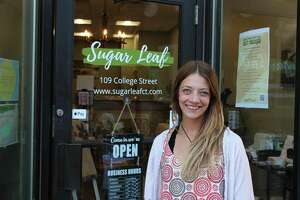 Kristin Souza owns and operates Sugar Leaf at 109 College St. in Middletown. It features CBD products and accessories.