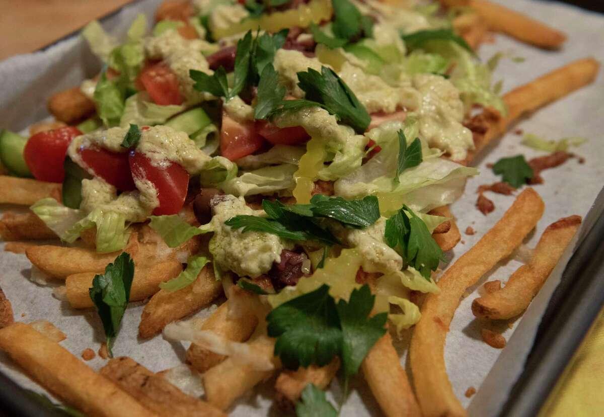 Caroline Barrett's Greek nacho french fries.