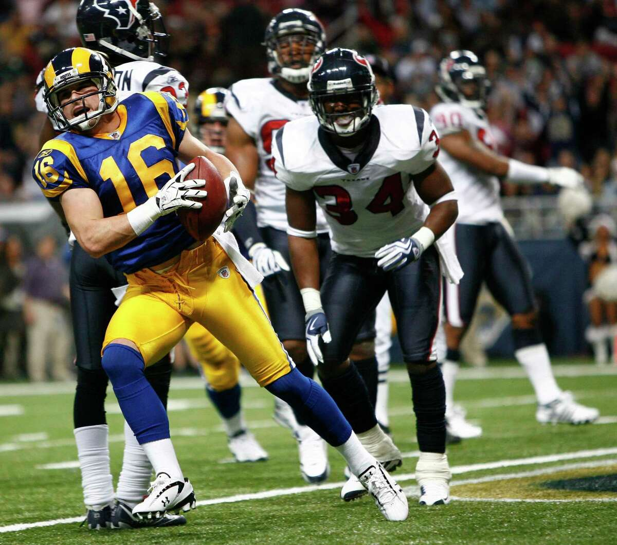 Danny Amendola scored against the Texans in 2009 when he played for the Rams.