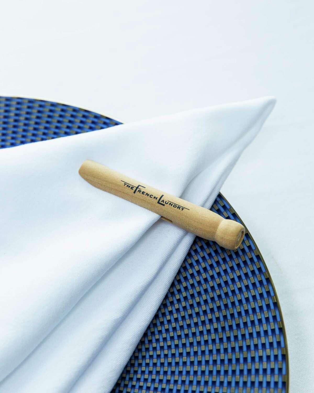 A napkin clip at French Laundry.