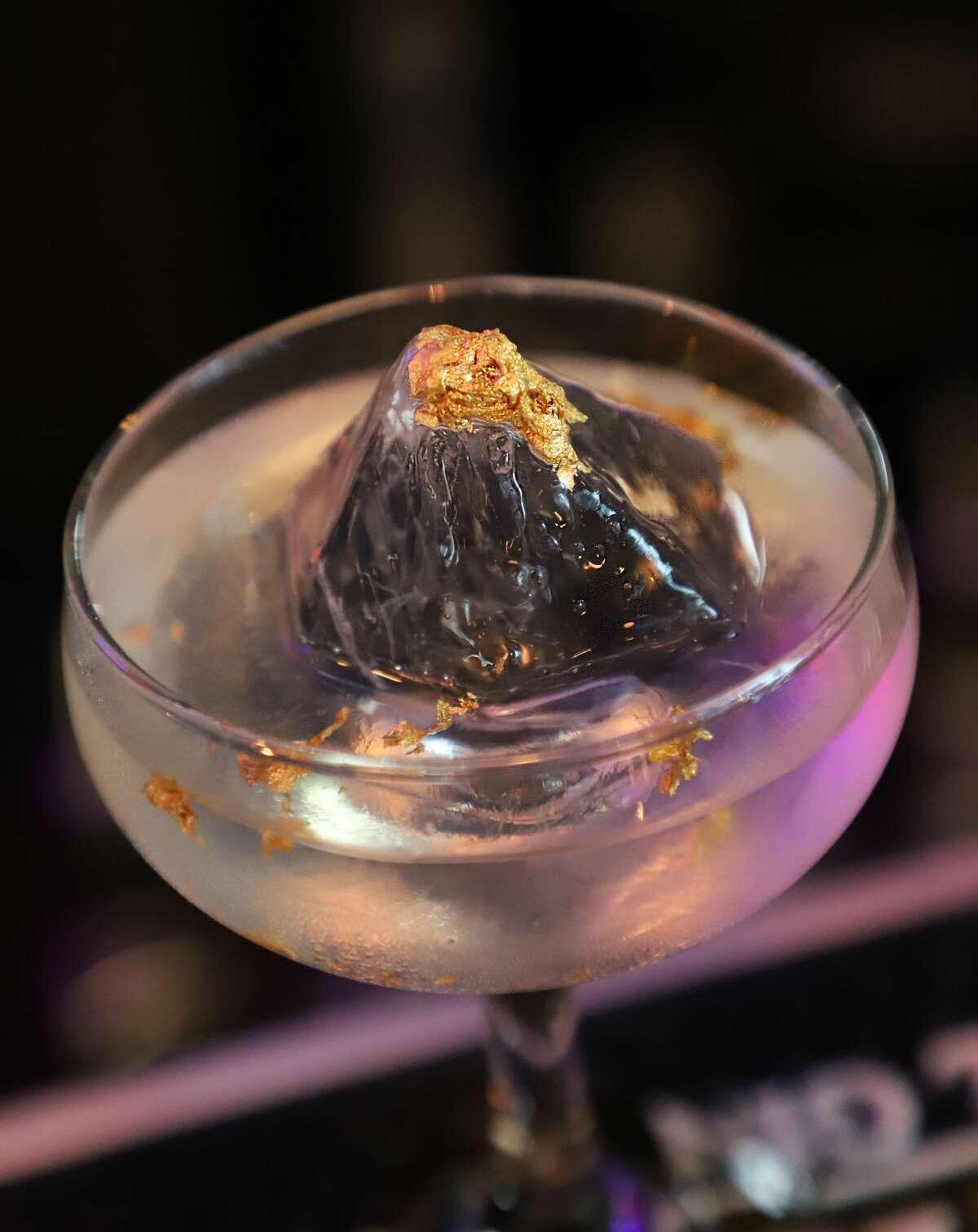 RHK's Diamond and Gold Negroni cocktail, with 24-karat gold flakes