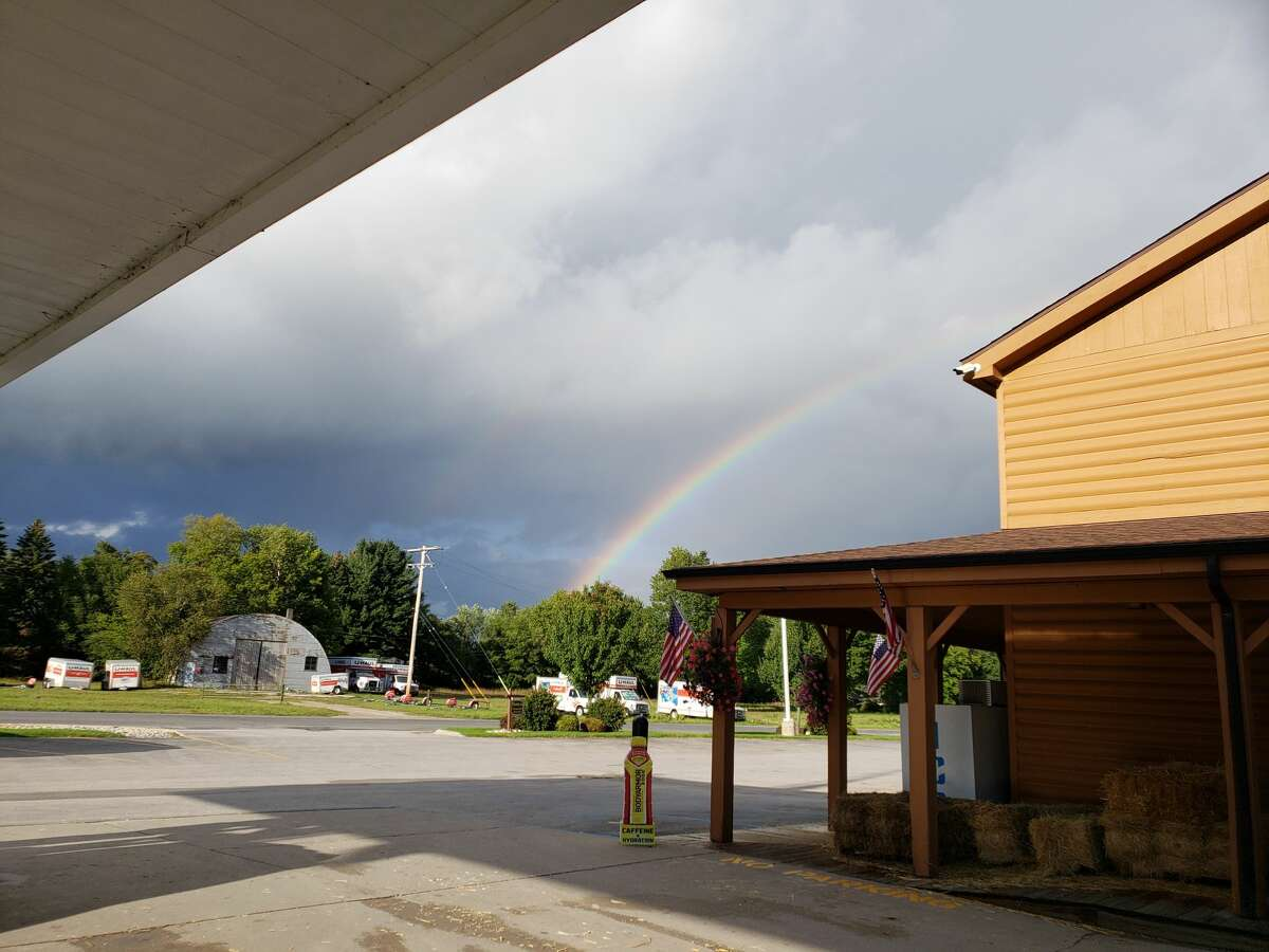 A double rainbow could be seen at Saddle Up Gas & Grocery in Bear Lake Wednesday evening.