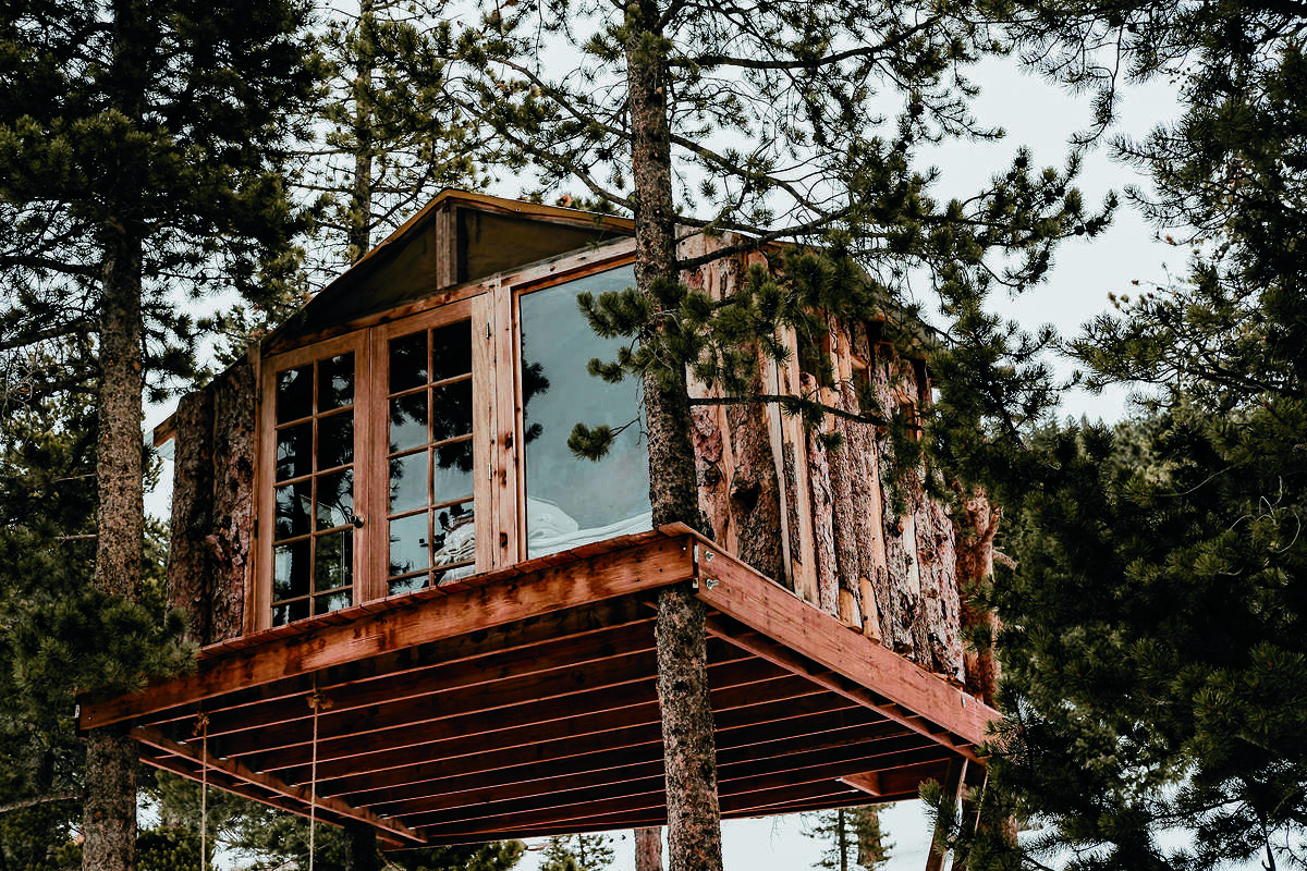 Jessica Brookhart bought a treehouse and occasionally rents it.
