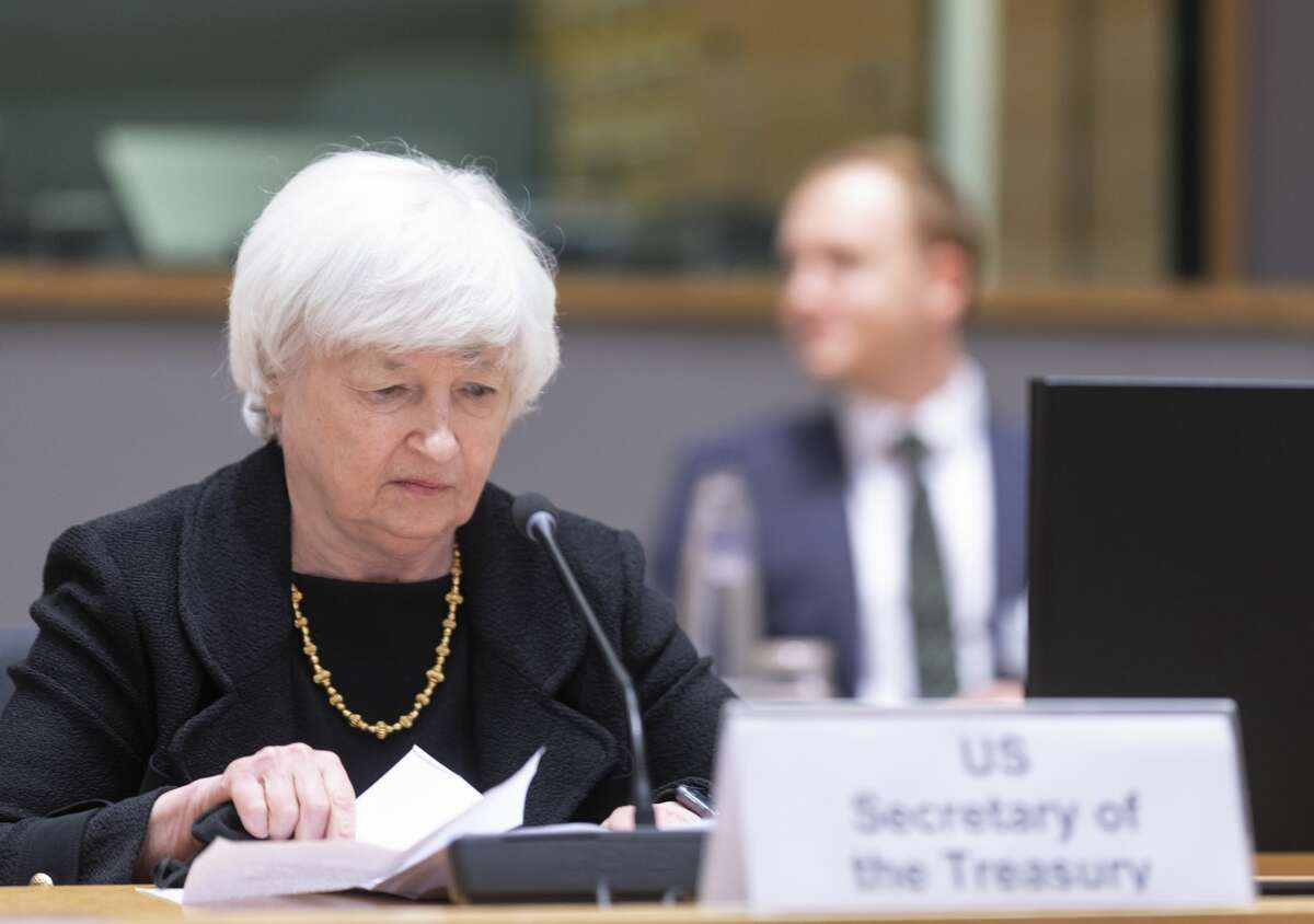 FILE - United States Secretary of the Treasury Janet Yellen attends an inclusive Eurogroup Ministers meeting in the Europa building on July 12, 2021 in Brussels, Belgium. (Photo by Thierry Monasse/Getty Images)