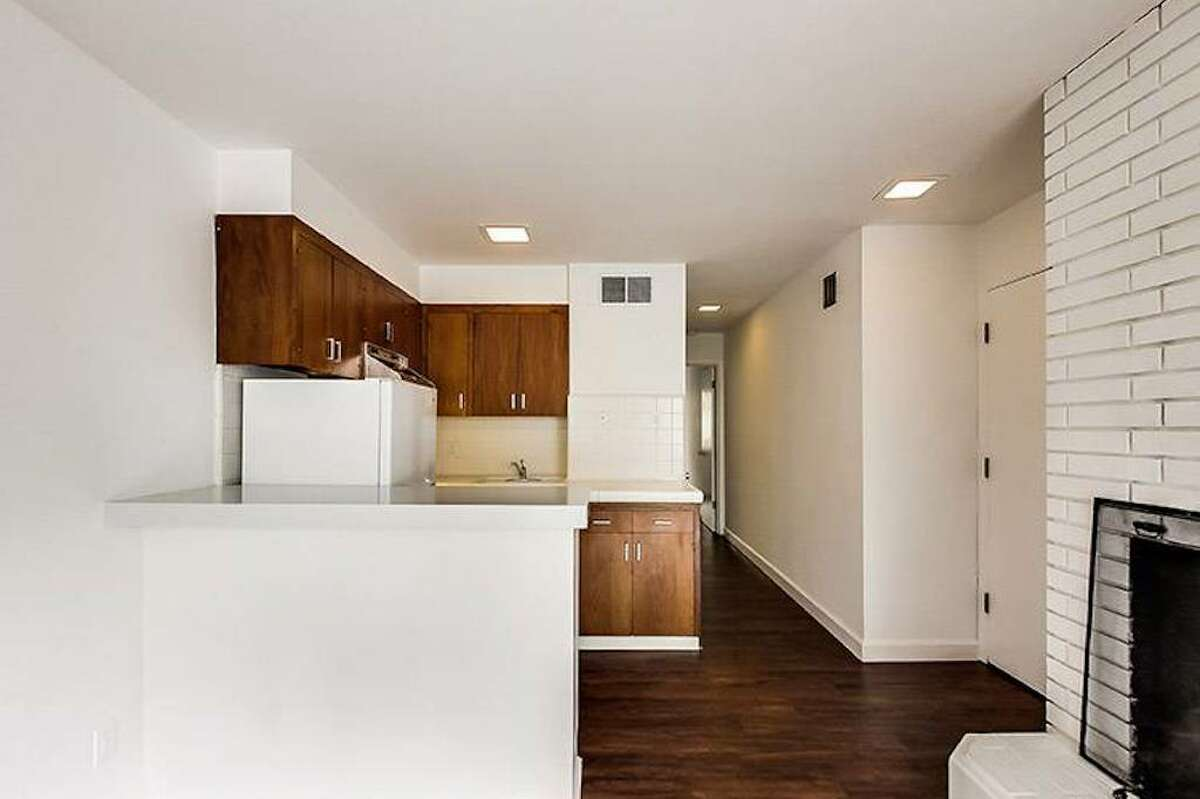 The floor plan is open and the living room flows into the kitchen.