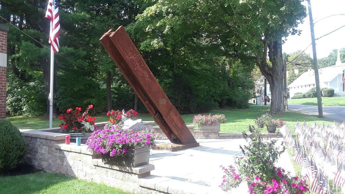 Torrington's North End Fire Station's 9/11 memorial is a beam from the World Trade Center's North Tower lobby, which the department received after 9/11's 10th anniversary in 2011. A ceremony is set for 8:30 a.m. Saturday.