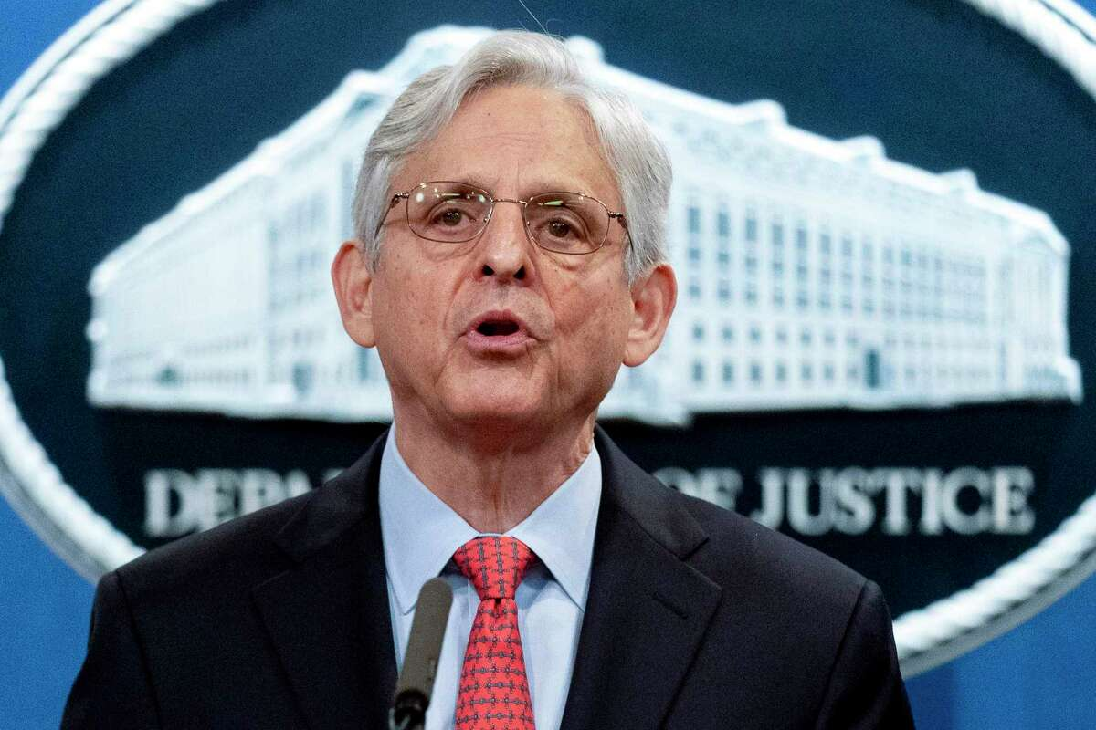 FILE - In this Aug. 5, 2021, file photo Attorney General Merrick Garland speaks at a news conference at the Department of Justice in Washington. (AP Photo/Andrew Harnik, File)
