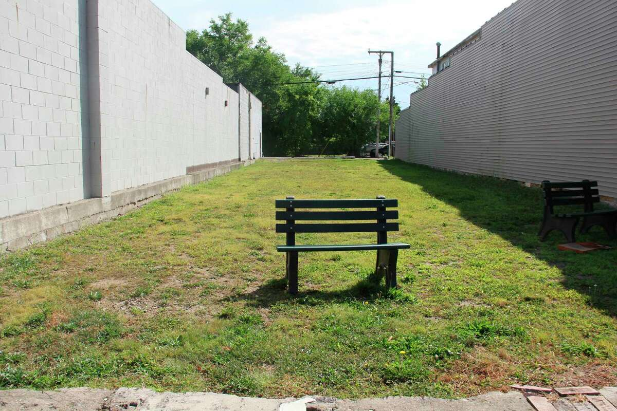 This empty lot along Main Street in Elkton is proposed to hold a pocket park, which the village hopes to start building this fall. Bud's Bar used to be on the site before it burned down. (Robert Creenan/Huron Daily Tribune)