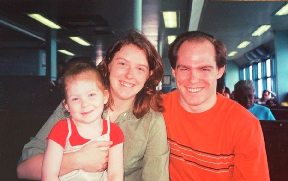 Sara, David and Sappha O'Meara on the Staten Island Ferry in August 2001. (Courtesy Photo)