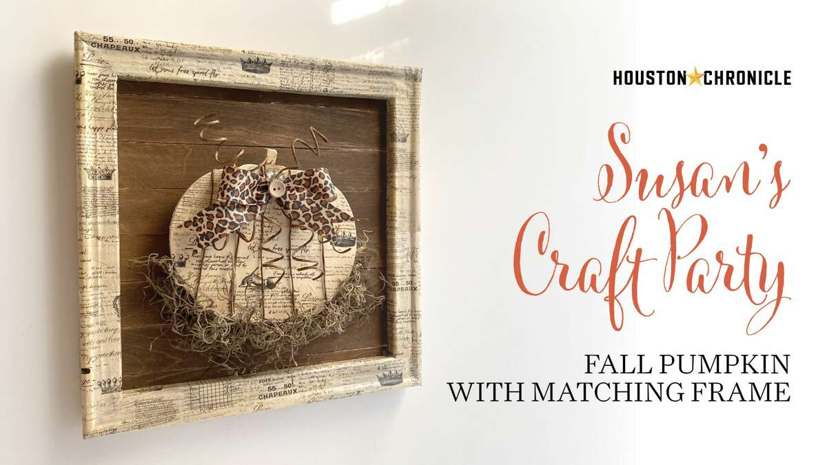 FALL PUMPKIN AND MATCHING FRAME Join Houston Chronicle design director Susan Barber to learn how to make this fall pumpkin with matching frame using washi tape.